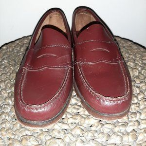 G.H Bass Weejuns PENNY LOAFER Womens Burgundy 6D